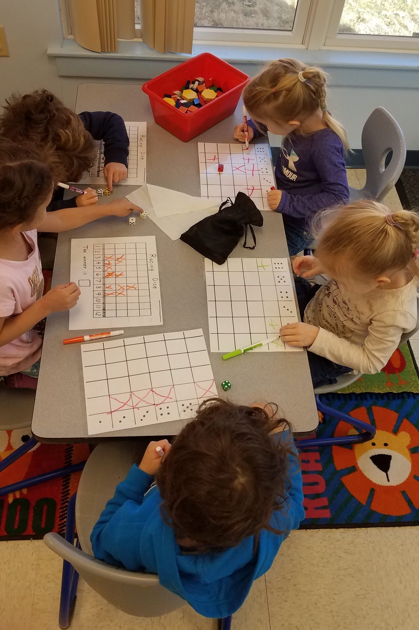 Actively engaged in math